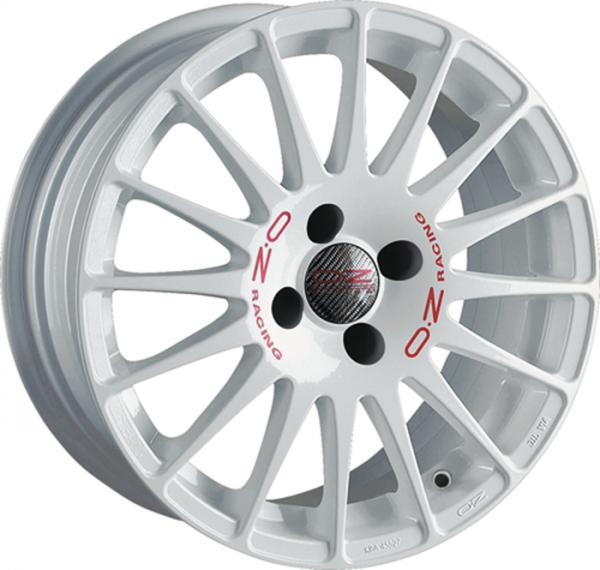 OZ SUPERTURISMO EVOLUZIONE WRC WHITE + RED LET. Felge 8x18 - 18 Zoll 5x112 Lochkreis