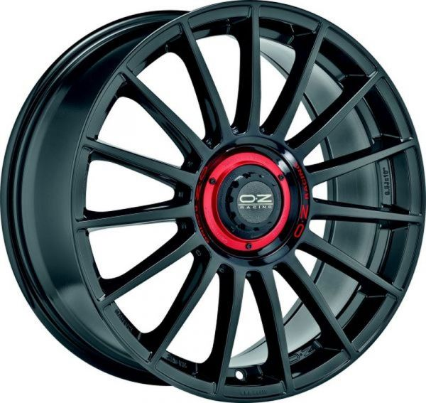 OZ SUPERTURISMO EVOLUZIONE GLOSS BLACK+RED LET. Felge 8x18 - 18 Zoll 5x112 Lochkreis