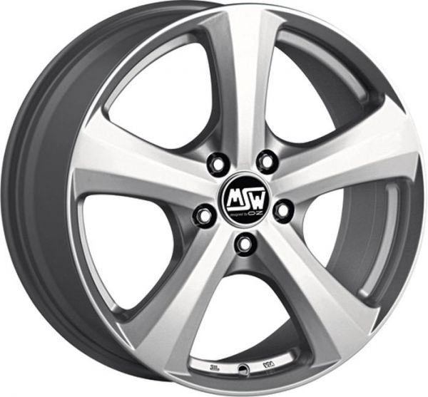 MSW 19 FULL SILVER Wheel 6,5x15 - 15 inch 5x110 bold circle