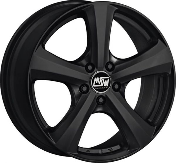 MSW 19 MATT BLACK Wheel 7x17 - 17 inch 5x115 bold circle