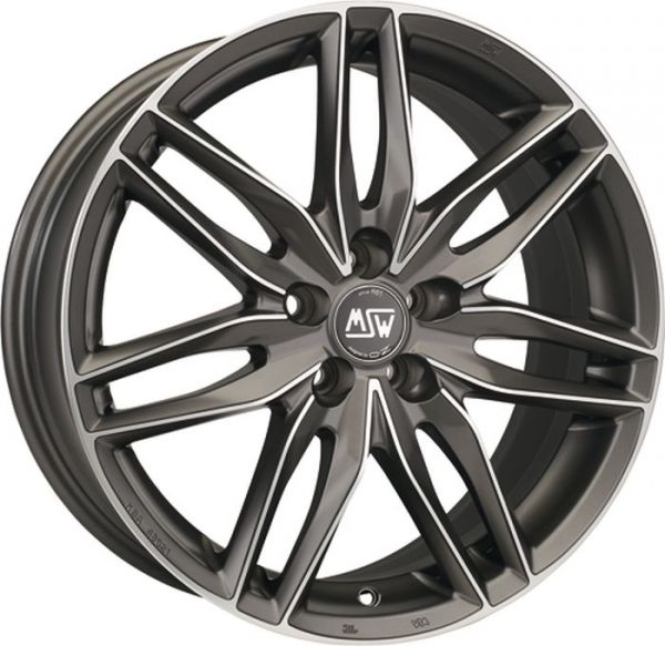 MSW 24 GUN METAL POLISHED Wheel 7x16 - 16 inch 4x108 bold circle
