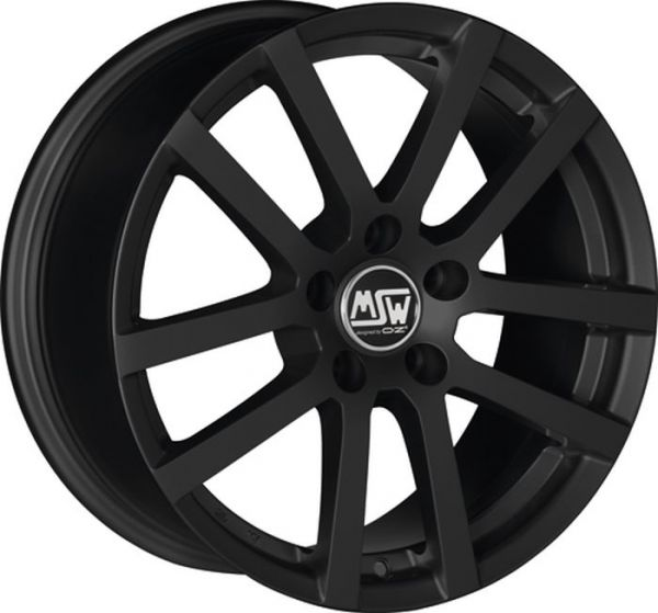 MSW 22 MATT BLACK Wheel 6,5x16 - 16 inch 5x112 bold circle