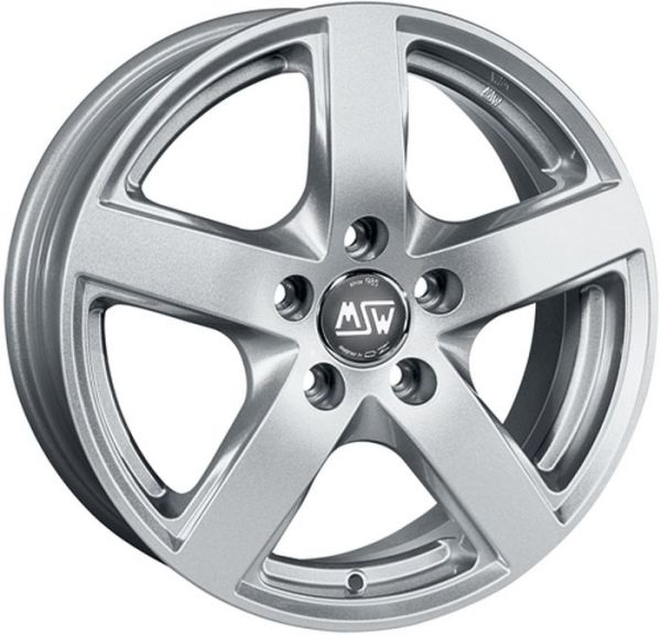 MSW 55 FULL SILVER Wheel 6,5x16 - 16 inch 5x112 bold circle
