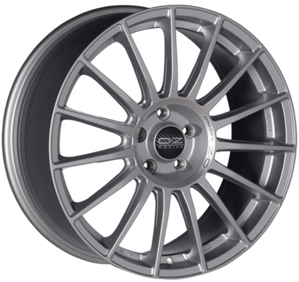 SUPERTURISMO LM MATT RACE SILVER + BLACK LETTERING Wheel 8x18 - 18 inch 5x100 bold circle