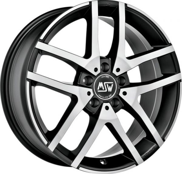 MSW 28 SCHWARZ MATT POLISHED Wheel 6,5x16 - 16 inch 5x112 bold circle