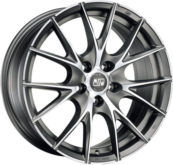 MSW 25 MATT TITANIUM POLISHED Wheel 7x16 - 16 inch 4x100 bold circle