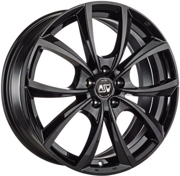 MSW 27 GLOSS BLACK Wheel 7,5x17 - 17 inch 5x112 bold circle
