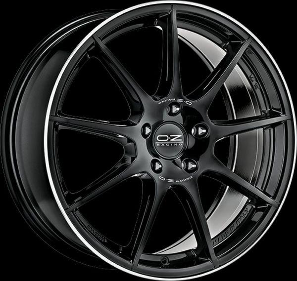 OZ VELOCE GT schwarz glanz gedreht + SI Felge 7,5x17 - 17 Zoll 5x112 Lochkreis