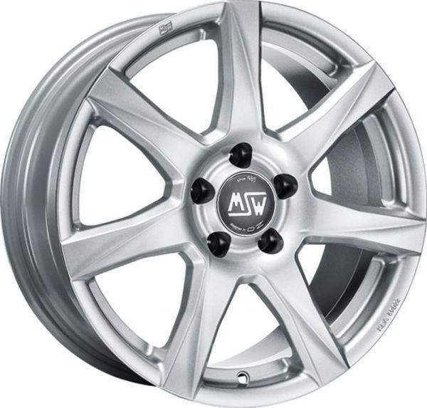 MSW 77 FULL SILVER Wheel 7x16 - 16 inch 4x100 bold circle