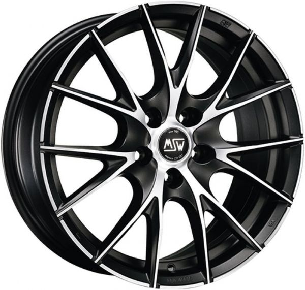 MSW 25 BLACK POLISHED Wheel 8x18 - 18 inch 5x114,3 bold circle