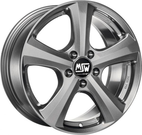 MSW 19 GREY SILVER Wheel 7x16 - 16 inch 5x108 bold circle