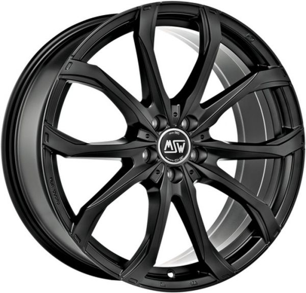 MSW 48 MATT BLACK Wheel 8x18 - 18 inch 5x112 bold circle