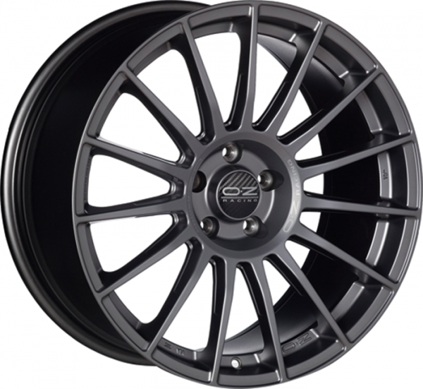 SUPERTURISMO LM MATT BLACK+SILVER LETTERING Wheel 8x18 - 18 inch 5x112 bold circle