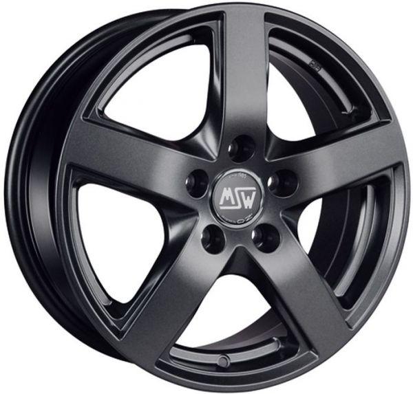 MSW 55 MATT DARK GREY Wheel 6,5x16 - 16 inch 5x112 bold circle