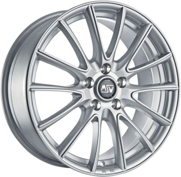 MSW 78 FULL SILVER Wheel 6,5x17 - 17 inch 5x112 bold circle