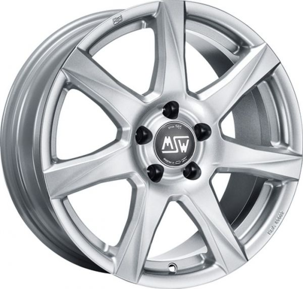 MSW 77 FULL SILVER Wheel 7,5x17 - 17 inch 5x114,3 bold circle