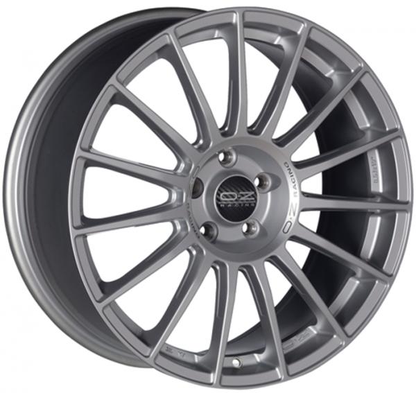 SUPERTURISMO LM MATT RACE SILVER + BLACK LETTERING Wheel 7.5x18 - 18 inch 5x100 bold circle