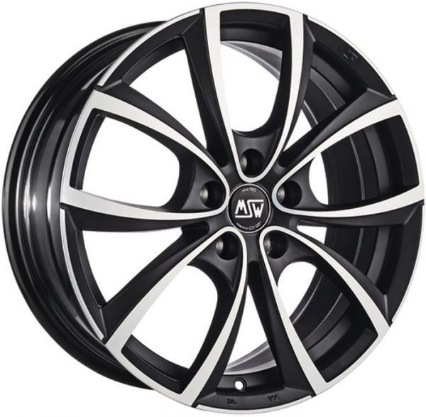 MSW 27 MATT DARK TITANIUM POLISHED Wheel 7,5x17 - 17 inch 5x120 bold circle