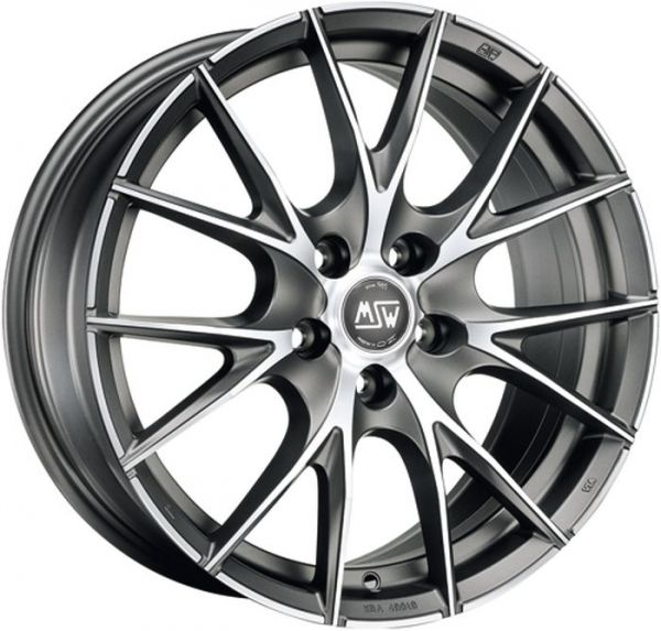 MSW 25 MATT TITANIUM POLISHED Wheel 7x17 - 17 inch 4x100 bold circle