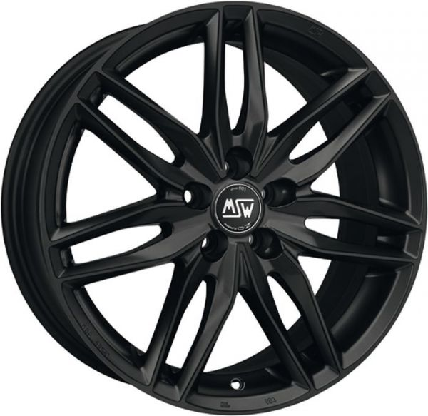 MSW 24 MATT BLACK Wheel 8x19 - 19 inch 5x112 bold circle